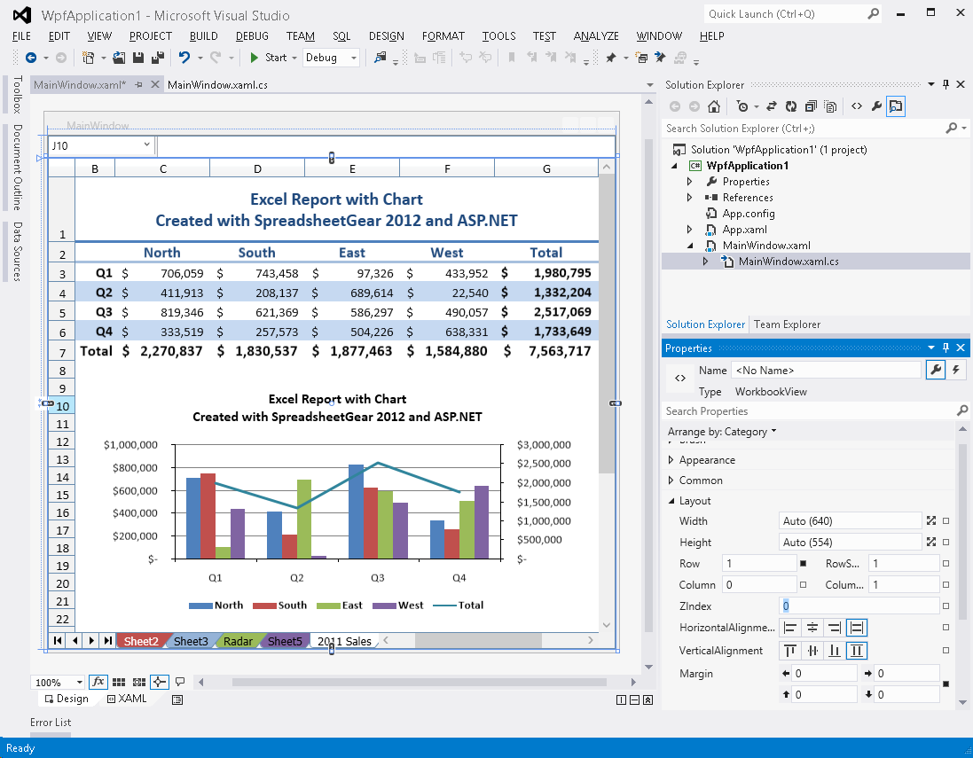 ... 2012 WorkbookView control in the Visual Studio 2012 WPF Designer