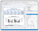 Click for a large image of the SpreadsheetGear WorkbookView control in the Visual Studio 2012 WPF Designer