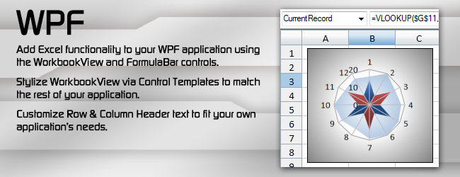 Excel compatible WPF controls.
